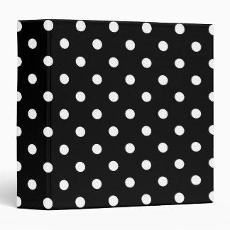 Black Polka Dot Vinyl Binders