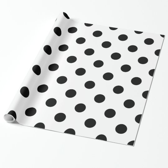 Black Polka-dot Wrapping Paper