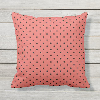 Black Polka Dot You Choose Background Colour Throw Pillow