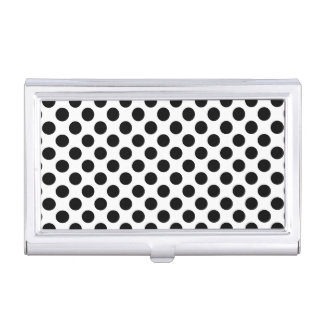 Black Polka Dots Business Card Cases