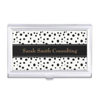Black Polka Dots Business Card Holder