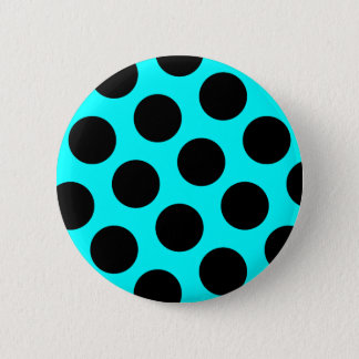 Black Polka Dots Button