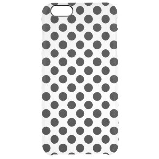 Black Polka Dots Clear iPhone 6 Plus Case