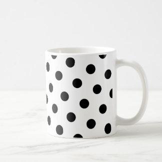Black Polka Dots Coffee Mug