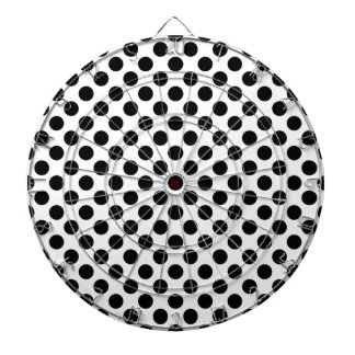Black Polka Dots Dartboard