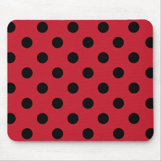 Black polka dots in network mouse pad