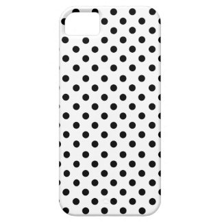 Black polka dots in white iPhone 5 covers