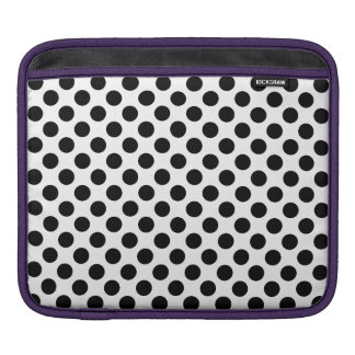 Black Polka Dots iPad Sleeve