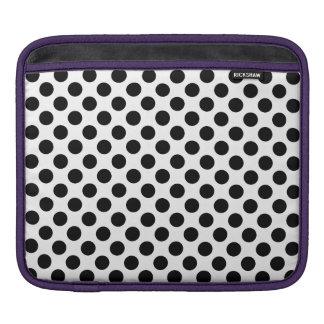 Black Polka Dots iPad Sleeves