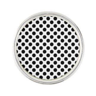 Black Polka Dots Lapel Pin