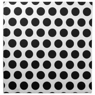 Black Polka Dots Napkins