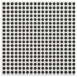 Black polka dots on a white background. fabric