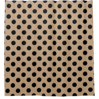 Black polka dots on beige