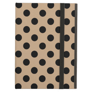 Black polka dots on beige iPad air covers