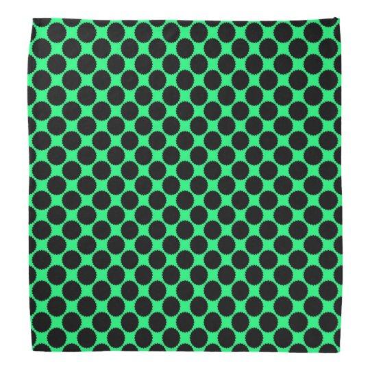 Black Polka Dots On Kiwi Green Bandana