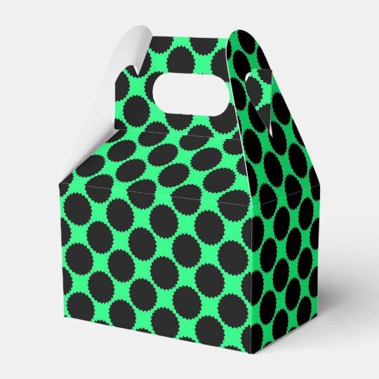 Black Polka Dots On Kiwi Green Favor Box