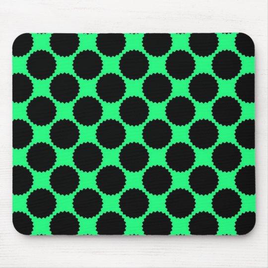 Black Polka Dots On Kiwi Green Mouse Pad