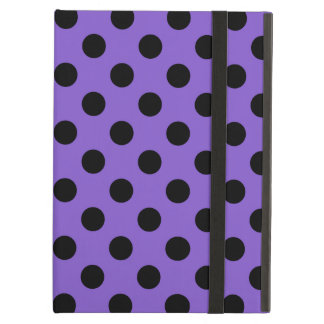 Black polka dots on lavender cover for iPad air