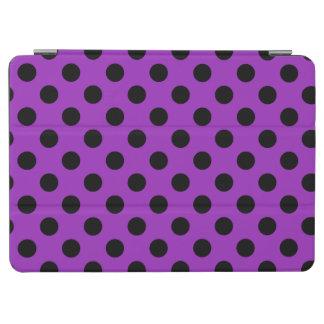 Black polka dots on purple iPad air cover