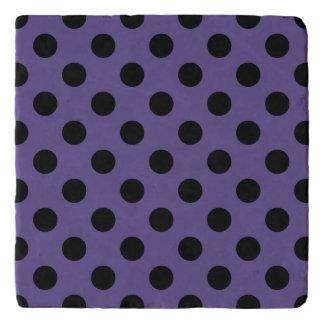 Black polka dots on ultra violet trivet