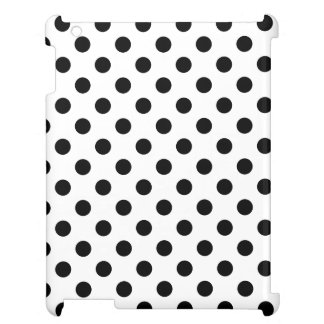 Black Polka Dots on White Background Case For The iPad
