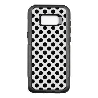 Black Polka Dots OtterBox Commuter Samsung Galaxy S8+ Case