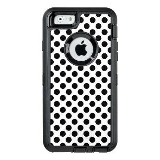 Black Polka Dots OtterBox Defender iPhone Case