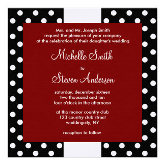 Black Polka Dots Personalized Announcement