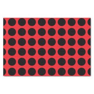 Black Polka Dots Red Tissue Paper