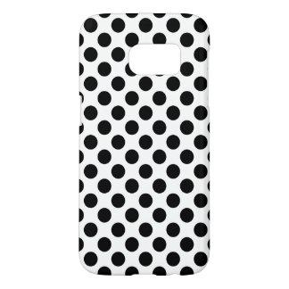 Black Polka Dots Samsung Galaxy S7 Case