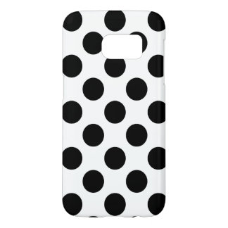Black Polka Dots Samsung Galaxy S7 Case