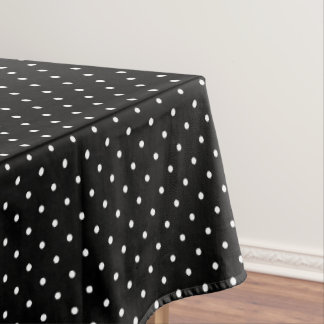 Black Polka Dots Table Cloth Birthday Party