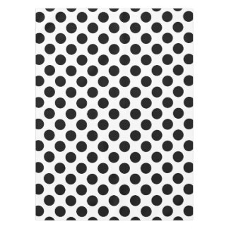 Black Polka Dots Tablecloth