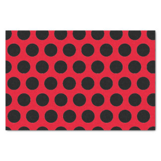 Black Polka Dots Tissue Paper
