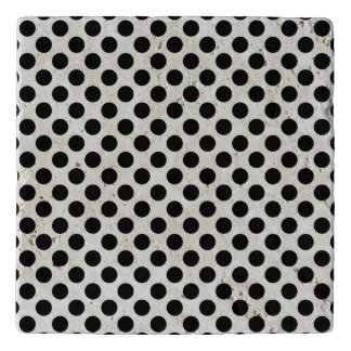 Black Polka Dots Trivet