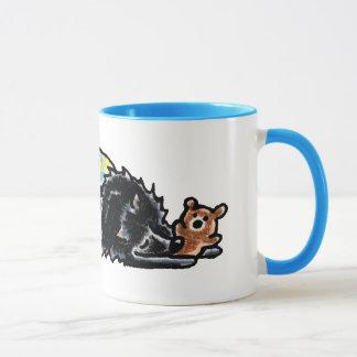 Black Pomeranian Bedtime Bear Mug