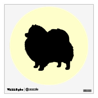 Black Pomeranian Dog Silhouette Wall Sticker