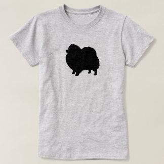 Black Pomeranian Silhouette T-Shirt