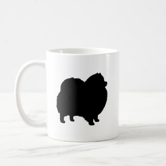 Black Pomeranian Silhouettes Coffee Mug