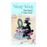 Black Poodle Boudoir Business Cards