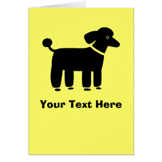 Black Poodle Card