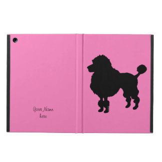 Black poodle dog silhouette cover for iPad air