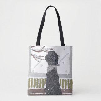 Black Poodle, Dog Tote Bag
