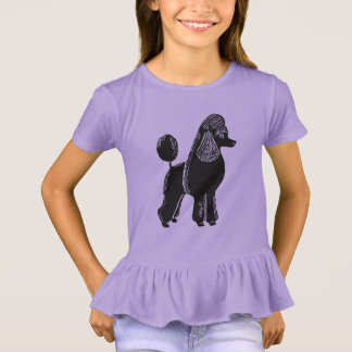 Black Poodle Girls' Ruffle T-Shirt