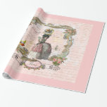 Black Poodle  in Marie Antoinette Costume Gift Wrap