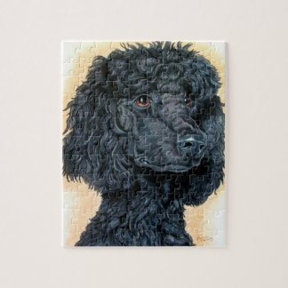 Black Poodle Jigsaw Puzzle