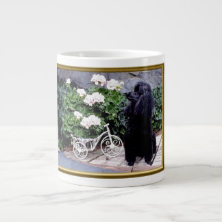 Black Poodle Large Mug