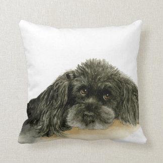 Black Poodle pillow