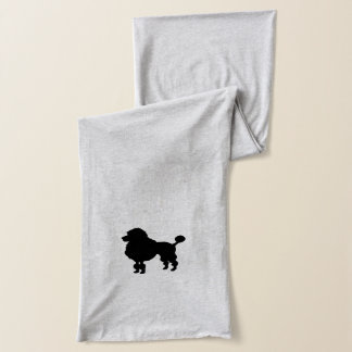 Black poodle silhouette scarf
