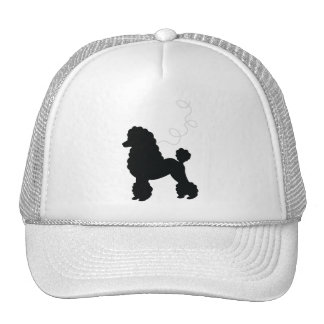 Black Poodle Skirt Shirt Mesh Hats